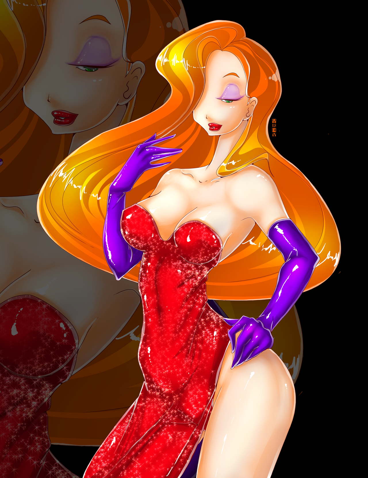 jessica rabbit happy new year by arev san on deviantart