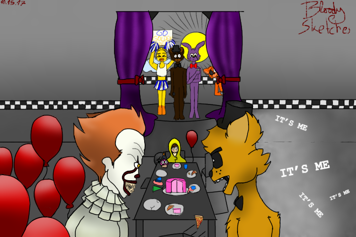Pennywise vs GoldenFreddy (mashup challenge) by PlusherPlays