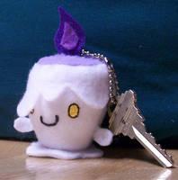 Hitomoshi litwick keychain by Hibikitikibi