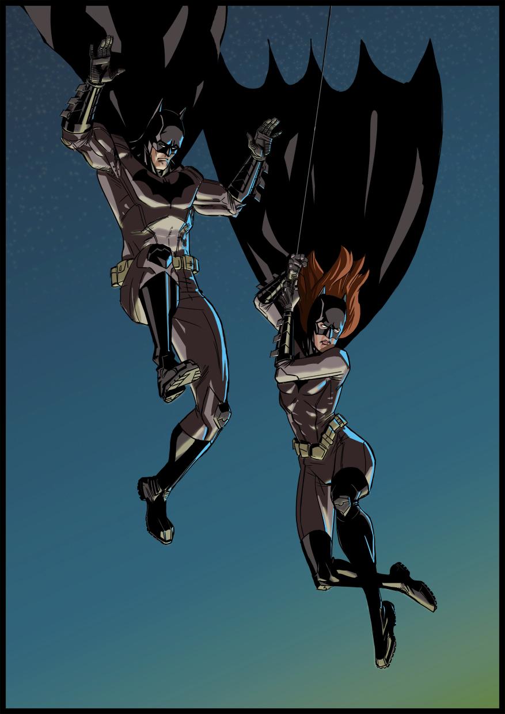 Batman and Batgirl by PeteYong on DeviantArt