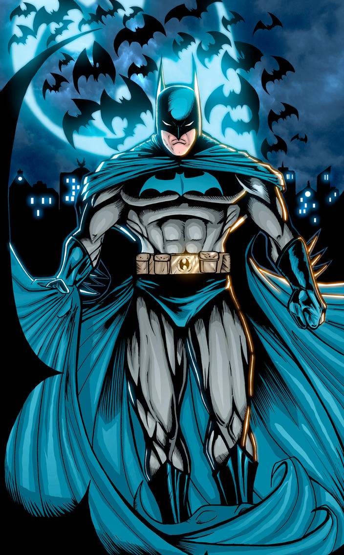 Batman looks so angry by xXNightblade08Xx