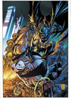 Batman vs Bane by xXNightblade08Xx