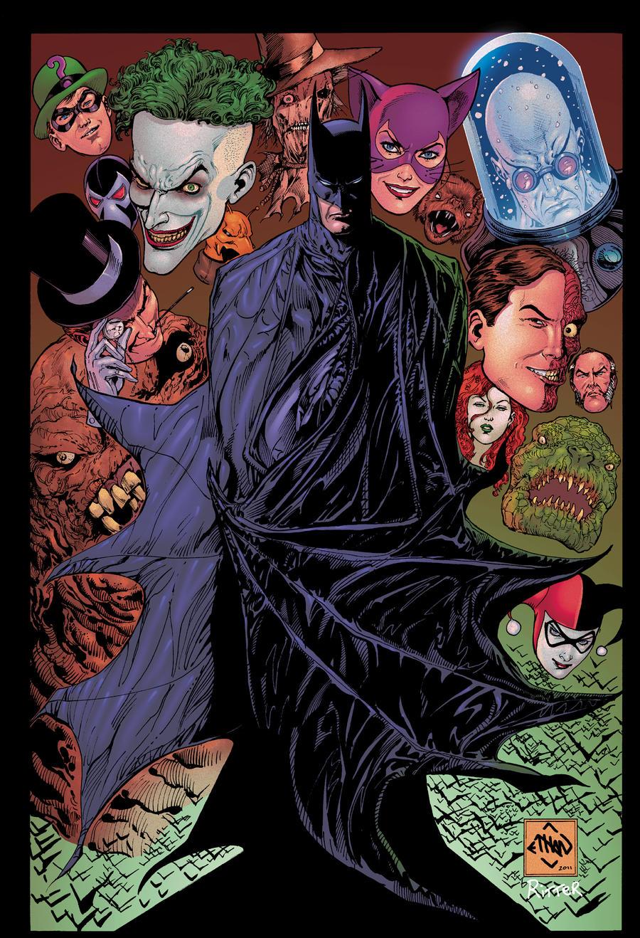 Batman and the Villians by xXNightblade08Xx