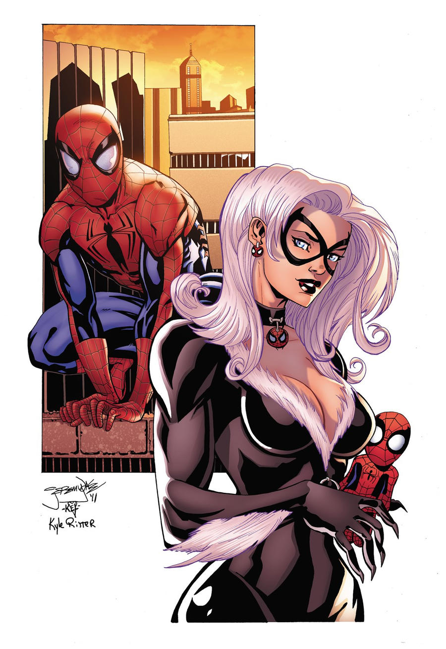 Spider-Man and Black Cat by xXNightblade08Xx