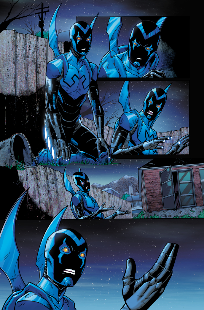 Blue beetle 03 page 14 colored by xxnightblade08xx on for Blue beetle coloring pages