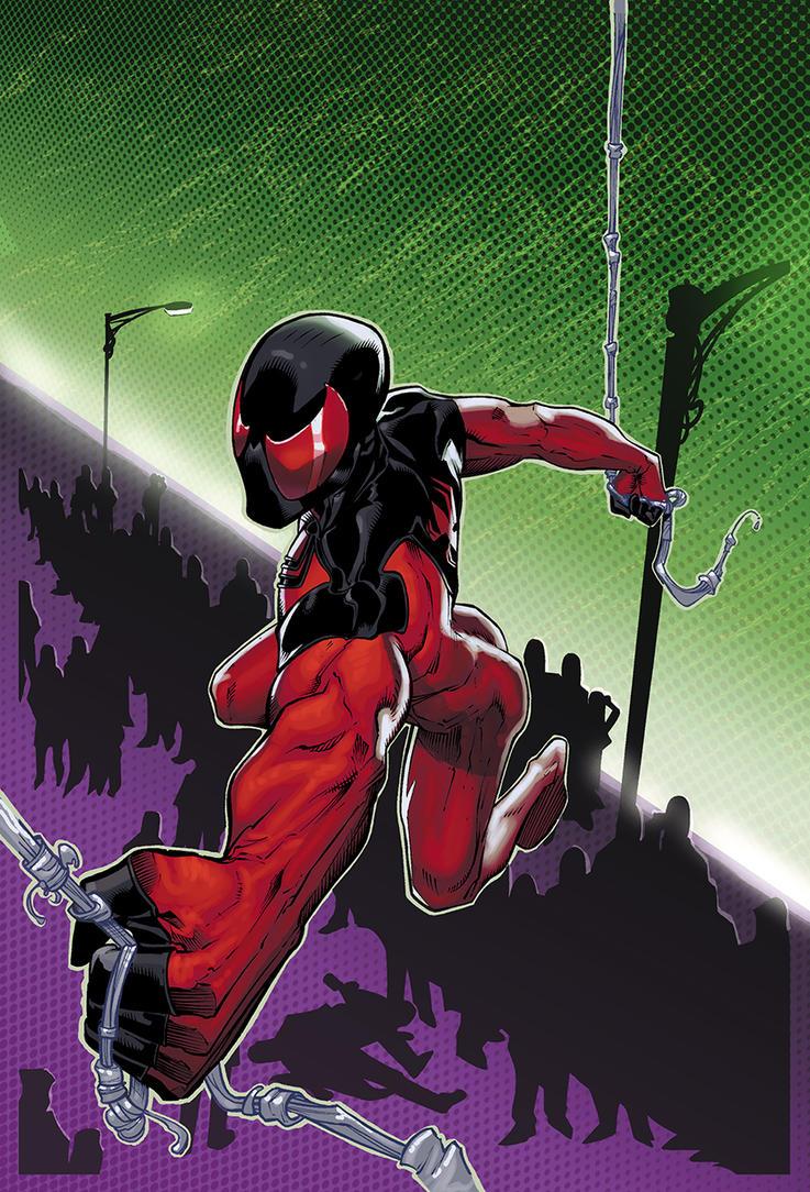 Scarlet Spider Pin Up by xXNightblade08Xx