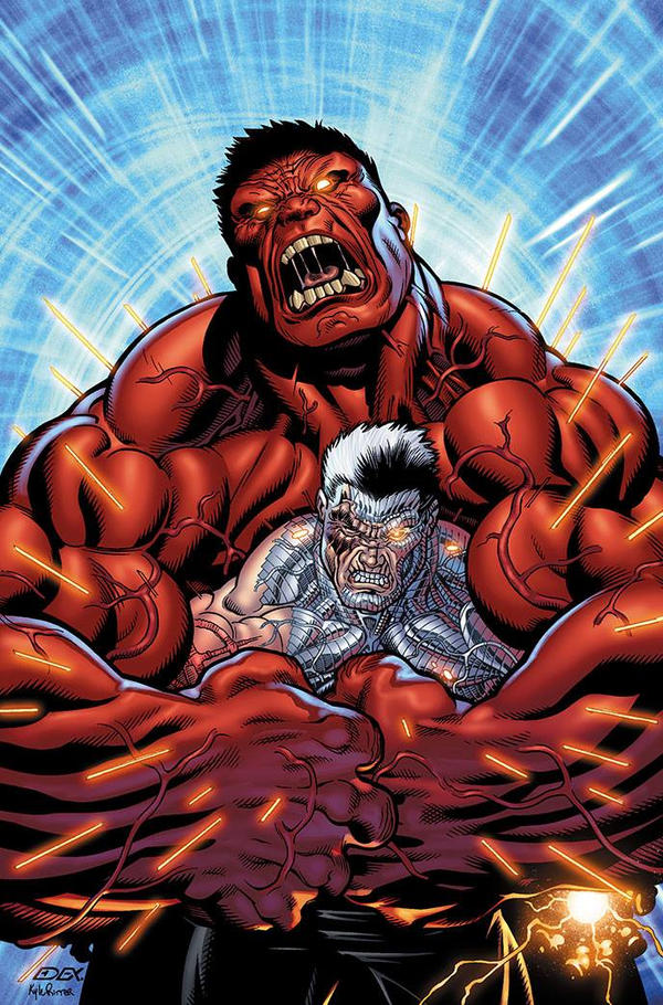 Red Hulk and Cable by xXNightblade08Xx