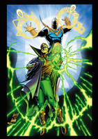 Doctor Fate and Green Lantern by xXNightblade08Xx