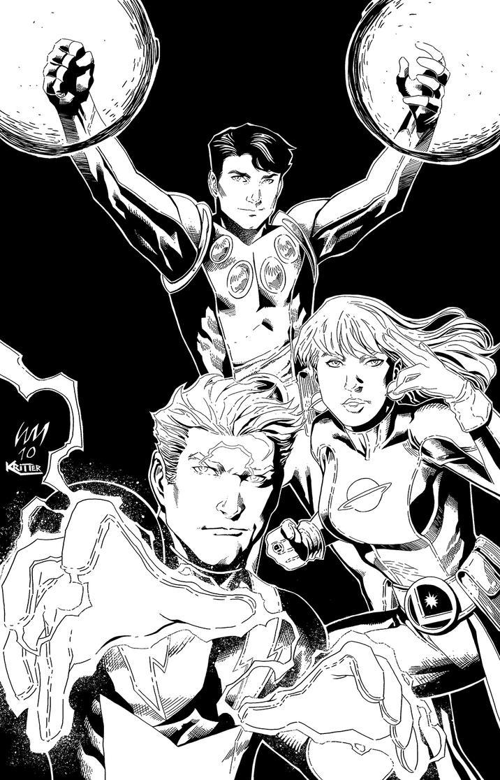 Legion of Superheroes ink by xXNightblade08Xx