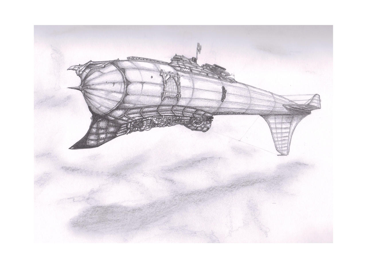 Ironclad Steam Airship I by ShadowHyperreal