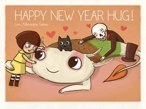 Happy new year hug!
