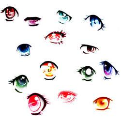 different manga eyes... by FantasyMemory