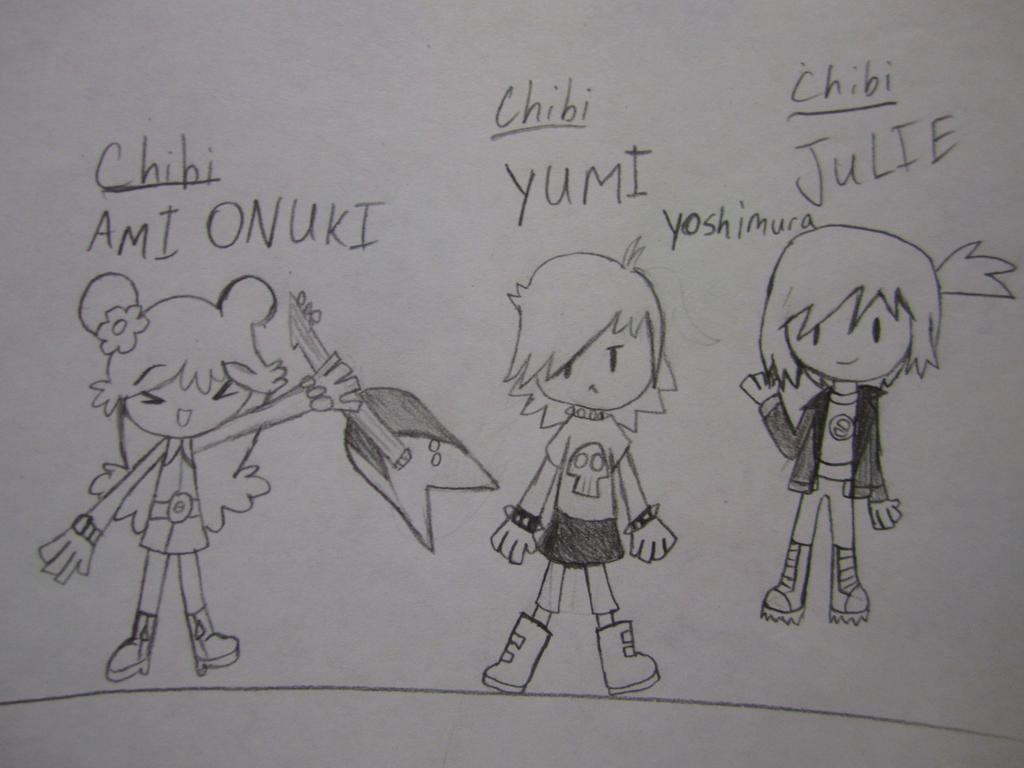 Requested by: Prentis-65 Ami,Yumi and Juile by SuperMapleGirl