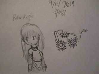 Sketchbook adventure 2019 #14: Roller knight by SuperMapleGirl