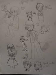 Sketchbook adventure 2019 #17: Character doodles by SuperMapleGirl