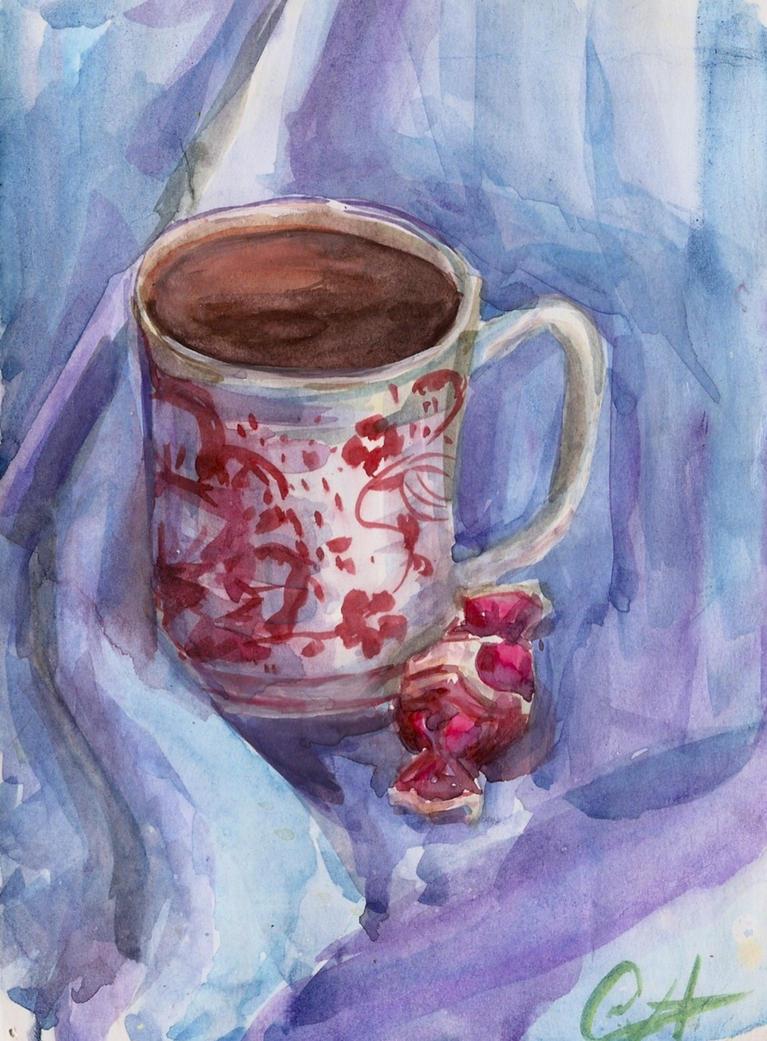 Tea and candy by Chukki-kukki