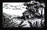 Old house ink sketch