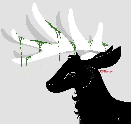 - Black Deer - by Common-Raven