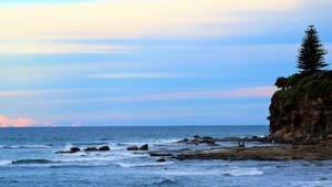 Ocean view at dusk