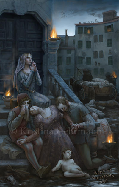 The Plague in Florence - 1348 by KristinaGehrmann