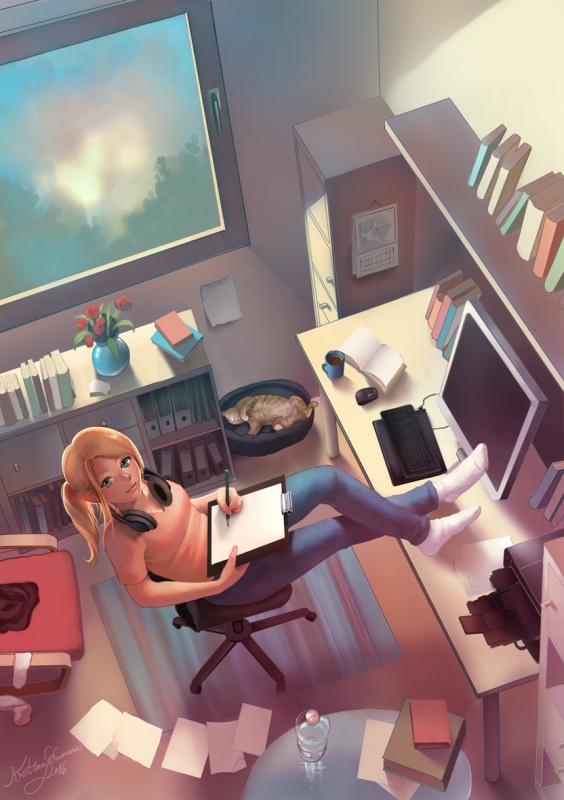 Zeichnen als Beruf - Buchcover by KristinaGehrmann