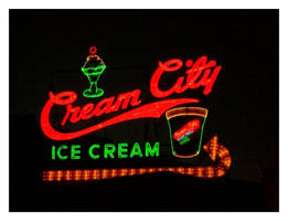 Classic Neon - Cream City Sign by TheMan268