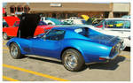 A Cool Blue Corvette