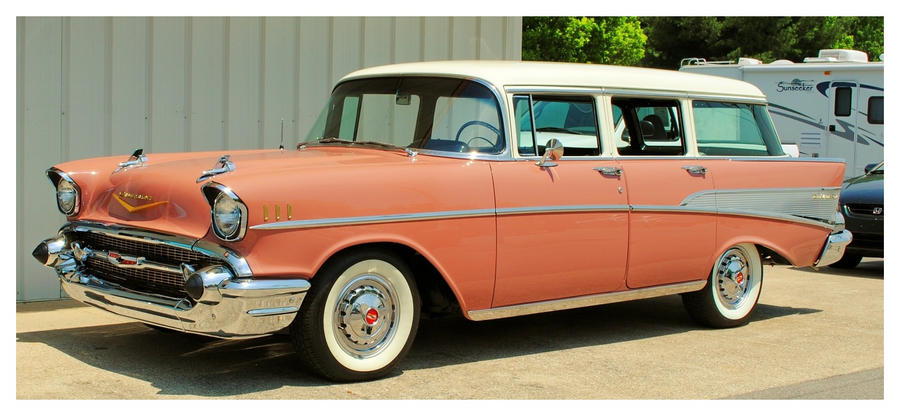 1957 Chevy Station Wagon By Theman268 On Deviantart