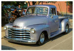 A Cool Silver Chevy Truck