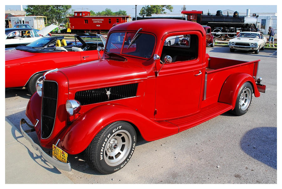 A Red 37' Ford Truck by TheMan268