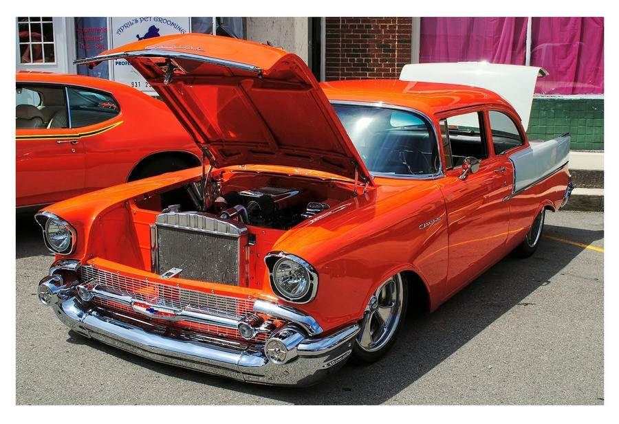 Orange and white 57 39 chevy by theman268 on deviantart