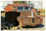 A Rusty Ford Panel Truck