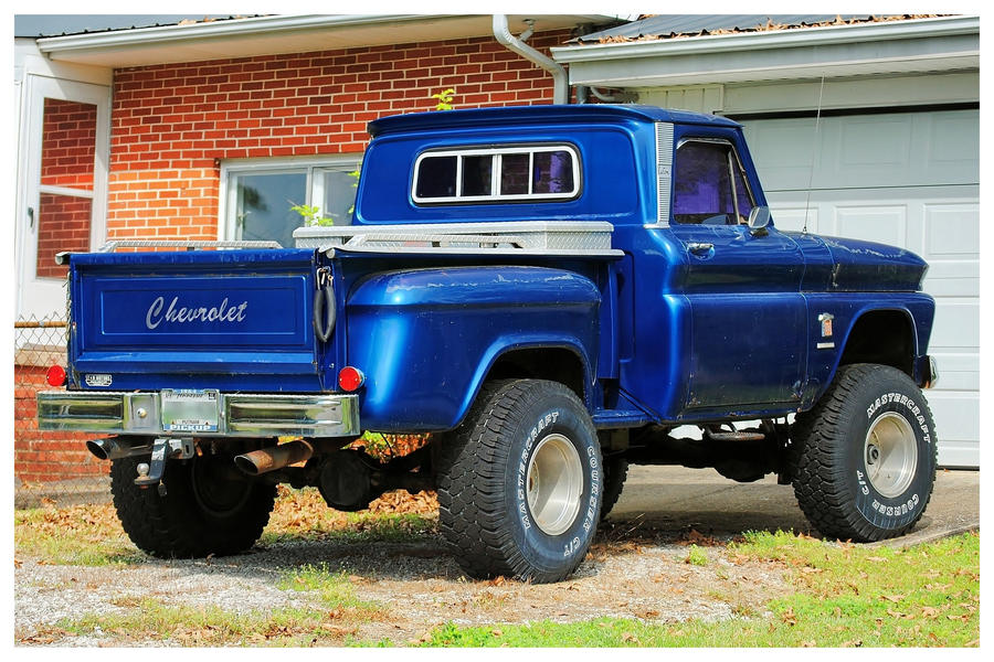 A Blue Chevy Stepside 4x4 by TheMan268 on DeviantArt