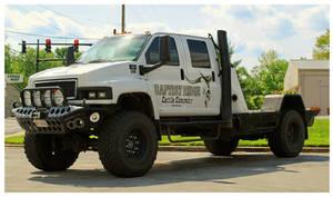 A GMC C5500 4x4 Duramax Diesel Truck