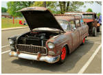 A Ratty 55' Chevy Wagon