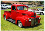 Hot Red Ford Truck