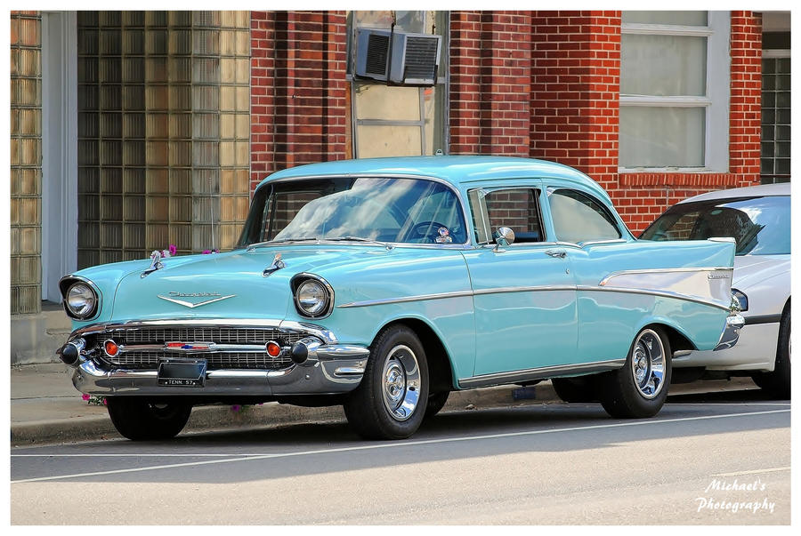 Baby Blue 1957 Chevy by TheMan268