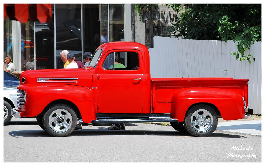 Old Ford Trucks Red