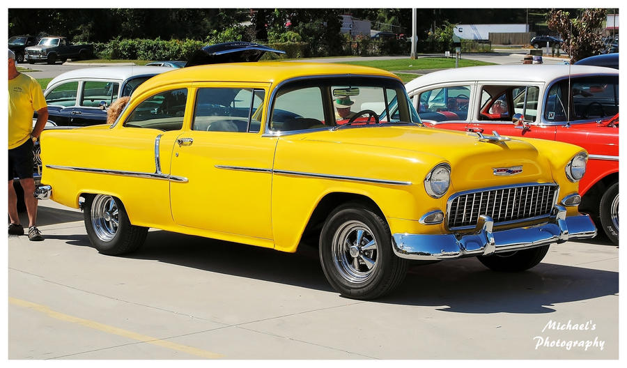 A Yellow 1955 Chevy by TheMan268