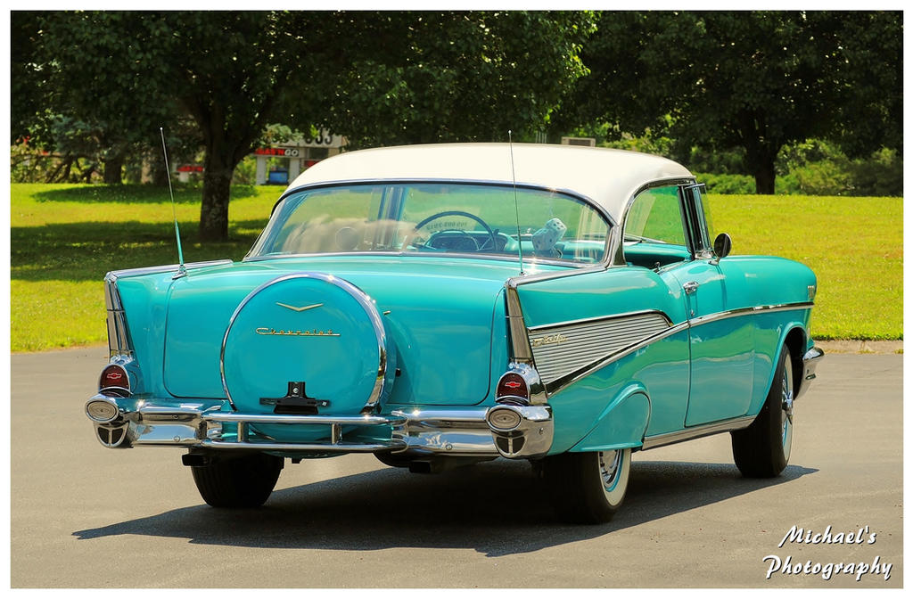 A 1957 Chevy With A Continental Kit by TheMan268