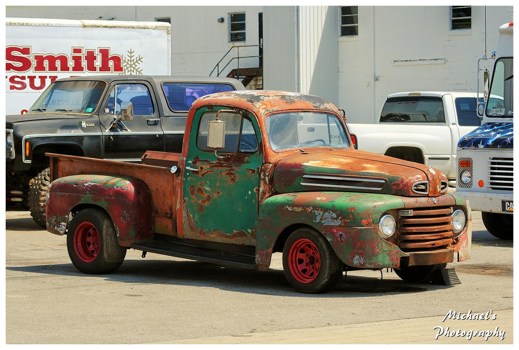 A Rusty Ford Truck With Red Wheels by TheMan268 on DeviantArt