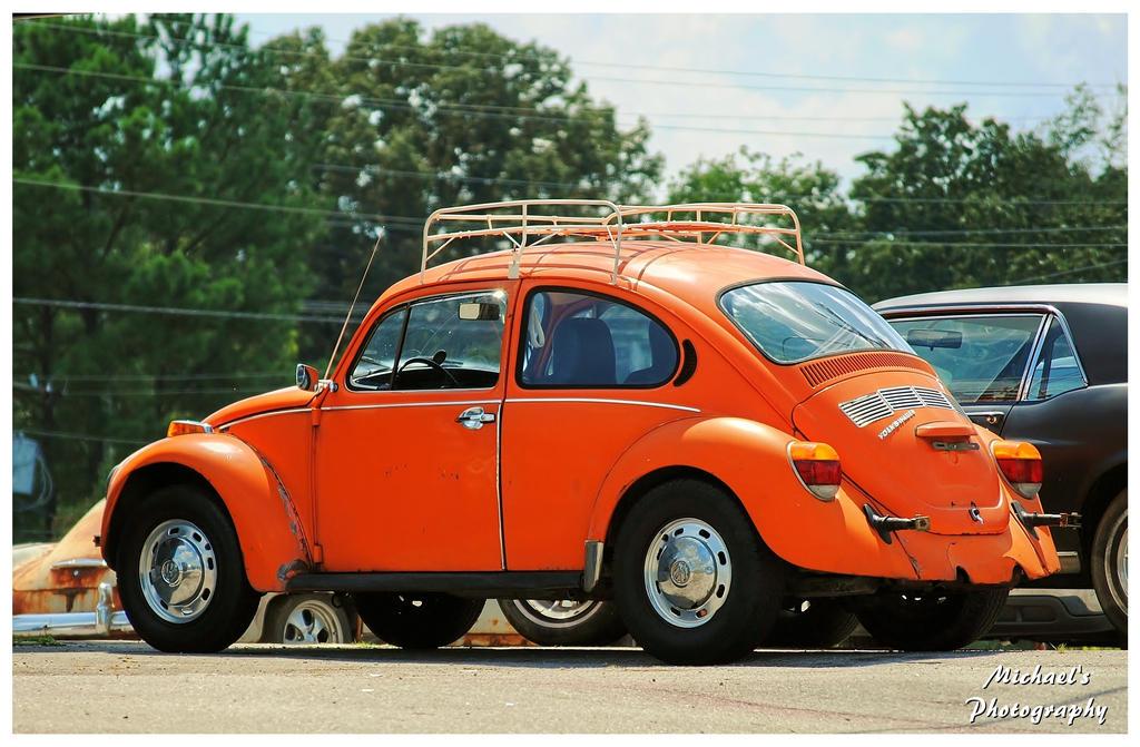 orange vw beetle. Black Bedroom Furniture Sets. Home Design Ideas