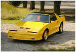 A Yellow 1985 Pontiac Trans Am