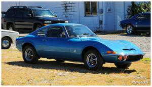 A Blue Opel GT