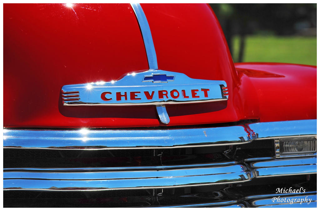 The Hood Emblem On A 1950 Chevy Pickup Truck By Theman268