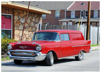 A 1957 Chevy 150 Delivery Wagon