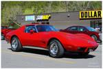A Sharp Red 1976 Corvette