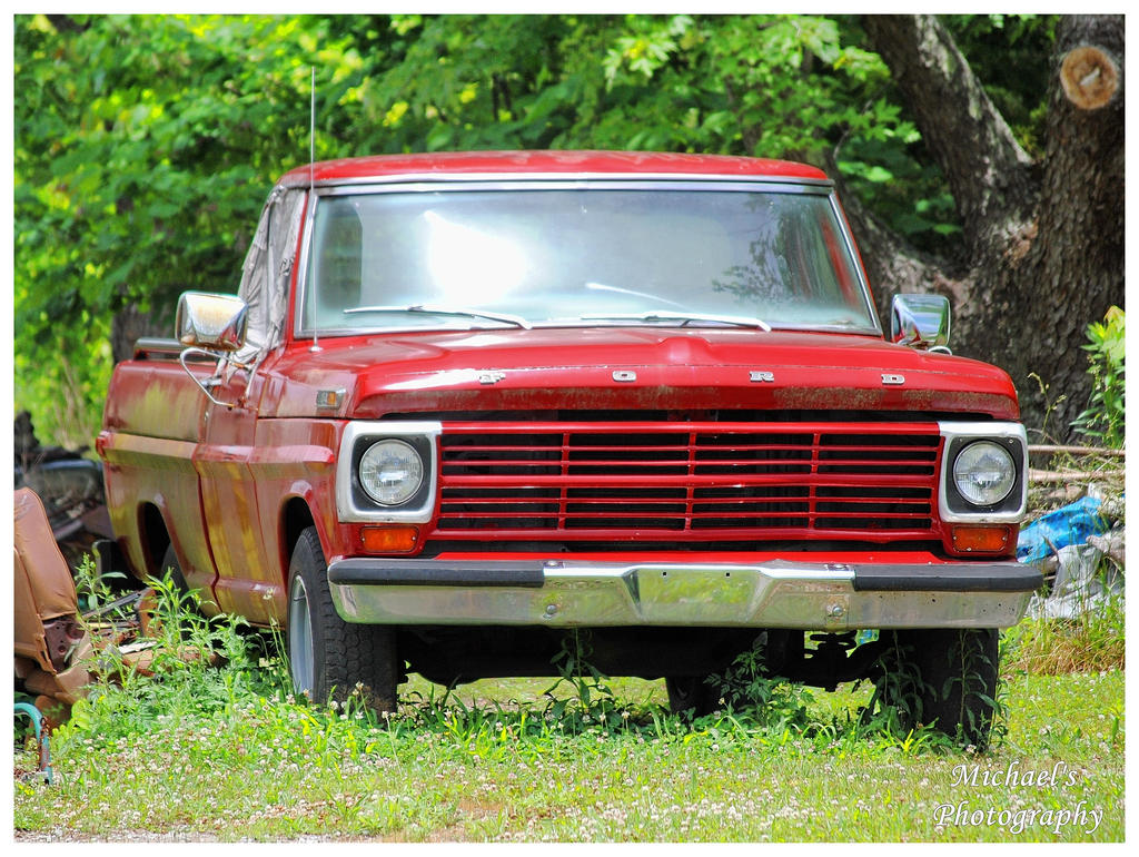 An Old Red Ford Truck by TheMan268 on DeviantArt