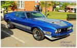 A Blue Mach 1 Mustang