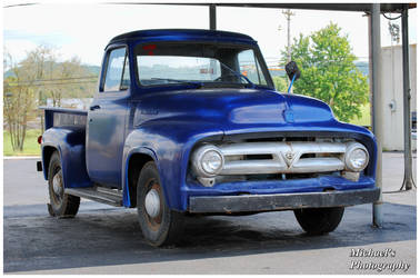An Old Ford Truck With a Bad Paint Job by TheMan268
